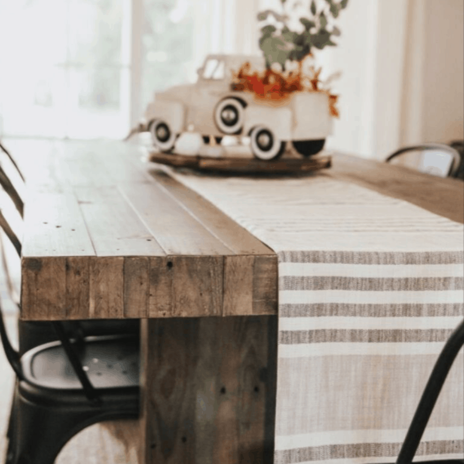 Kitchen table and table runner