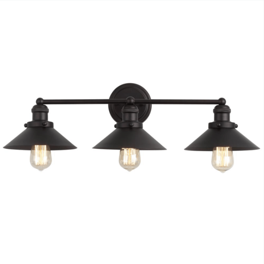 black farmhouse style light fixture