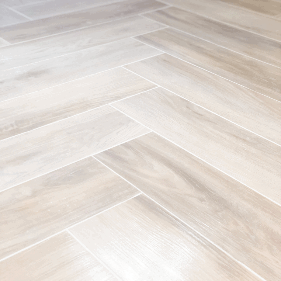floor tile in herringbone tile