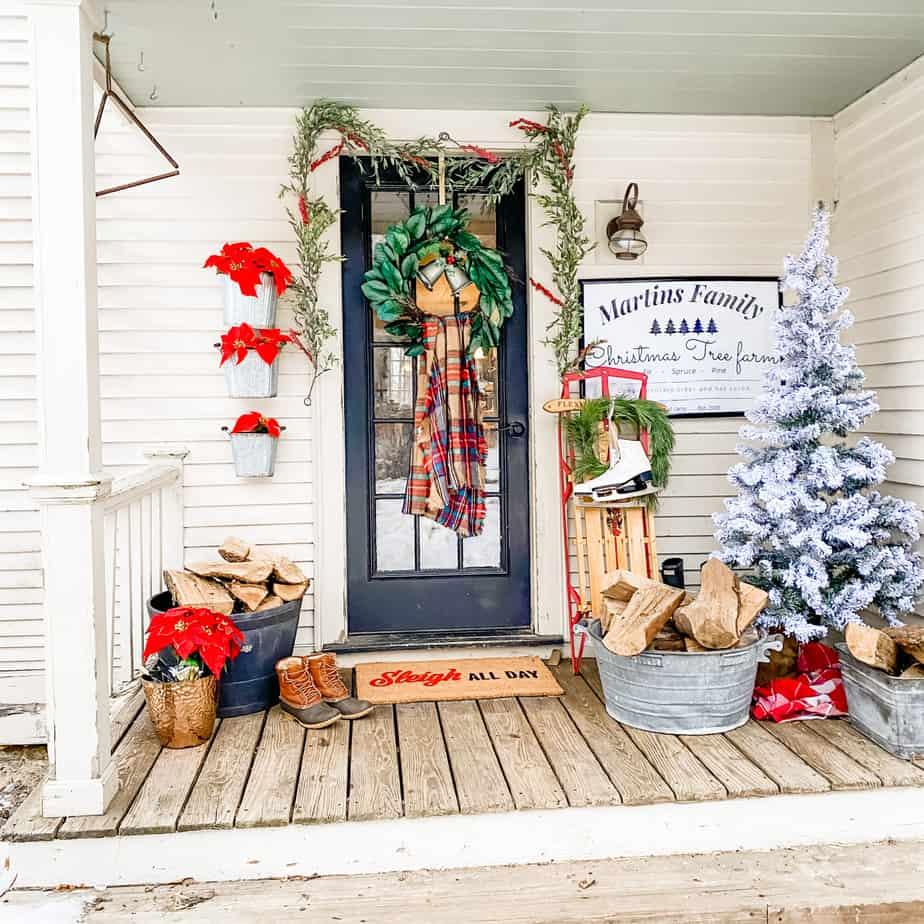 Farmhouse porch Christmas tour!